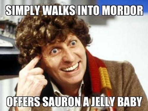 lotr,classic who,one does not simply,4th doctor,tom baker