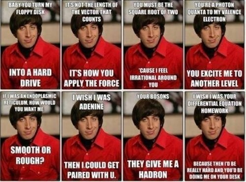 A Whole Pack of Pickup Lines, Howard Style