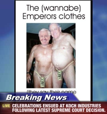 Breaking News - CELEBRATIONS ENSUED AT KOCH INDUSTRIES FOLLOWING LATEST SUPREME COURT DECISION.