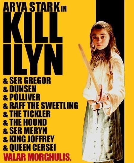 crossover,arya stark,Kill Bill