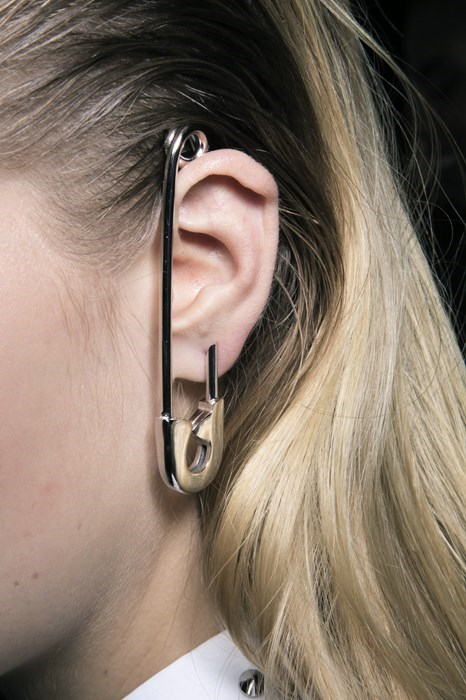 Taking Safety Pin Earrings to the Next Level