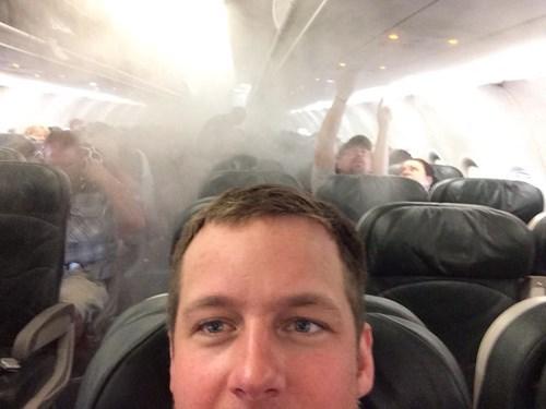 Photo of the Day: Plane on Fire? Take a Selfie!