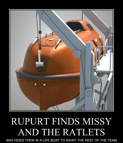 RUPURT FINDS MISSY AND THE RATLETS