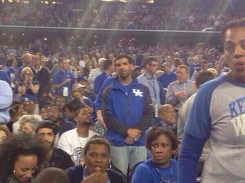 Drake Was the Face of Every Kentucky Wildcats Fan Last Night