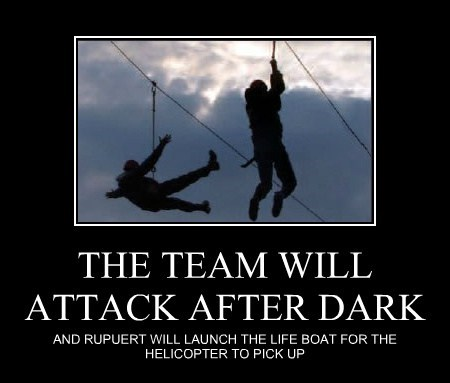 THE TEAM WILL ATTACK AFTER DARK