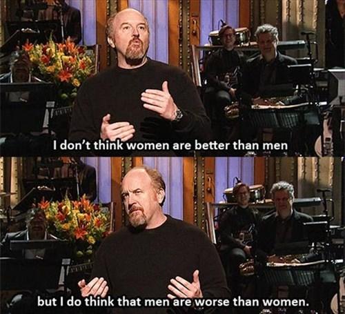 louis ck,SNL,men vs women