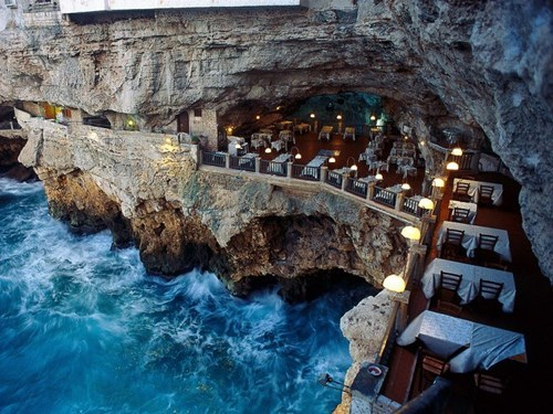 This Italian Restaurant is Carved into a Grotto. No Joke.