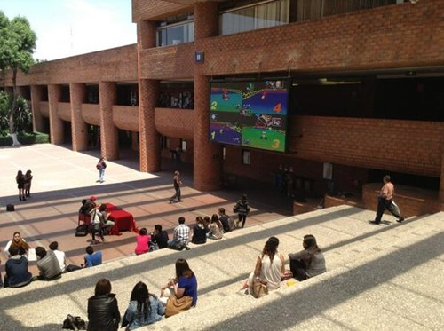 Nothing Like Playing Mario Kart 64 Over the University's Giant Screen