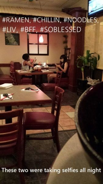 restaurant,hashtags,selfie