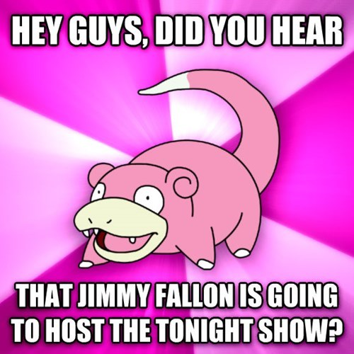 David Letterman,stephen colbert,jimmy fallon,slowpoke