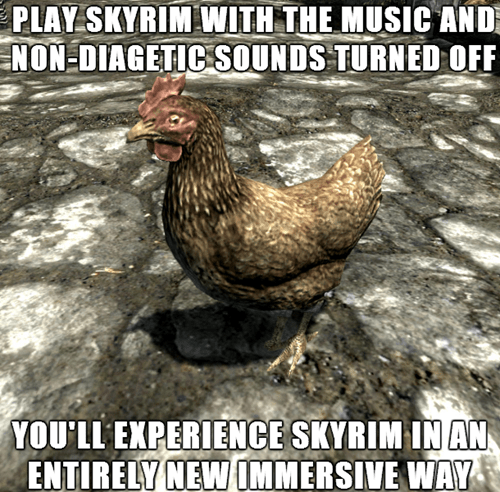Actual Advice Skyrim Avian