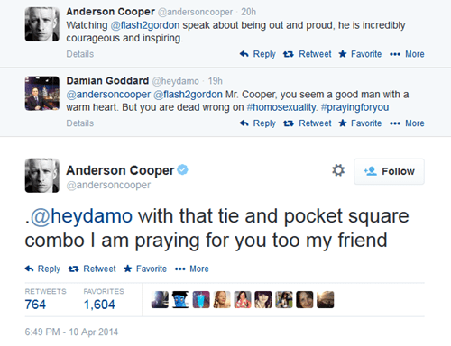 Anderson Cooper Totally Lets This Anti-Gay Sportscaster Have it