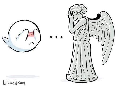 boo,weeping angels