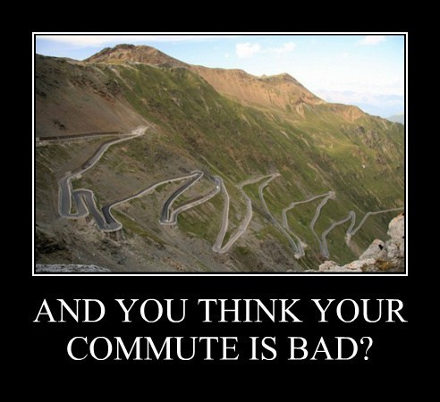 AND YOU THINK YOUR COMMUTE IS BAD?