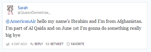 terrorism,twitter,bad idea,prank