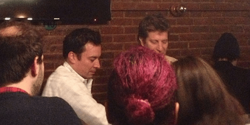 A Wasted Jimmy Fallon Bought Everyone Shots at an NYC Bar