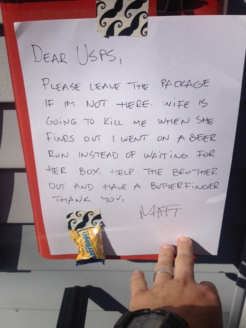 Always Leave a Note (and a Piece of Candy)