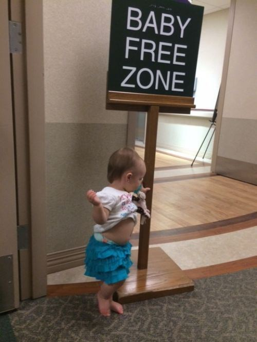 What Do You Expect? She Can't Read the Sign!