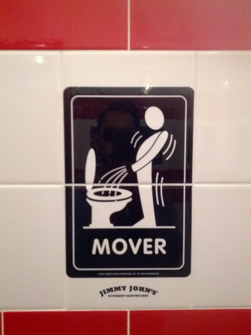 Jimmy Johns' Has Brilliant Bathroom Tiles That Ask You What Type of Restroom User You Are