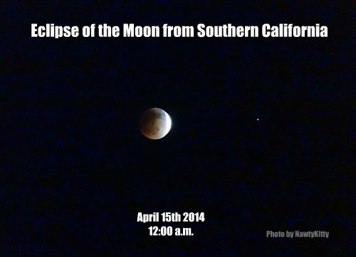 Eclipse of the Moon from Southern California