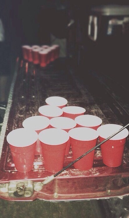 Nothing Like Some Impromptu Beer Pong