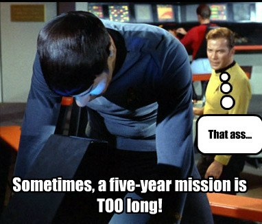 Kirk is about to boldly go where.....