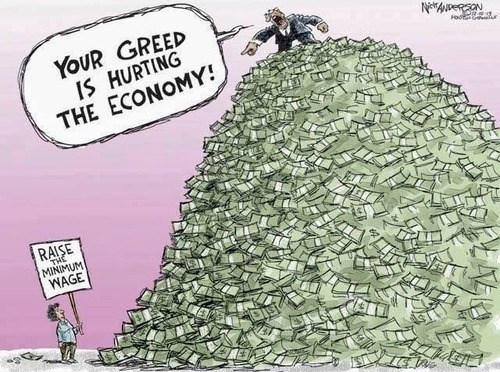 minimum wage,greedy,economy,web comics