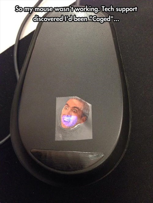 monday thru friday,cubicle prank,tech support,work,nicolas cage,prank,mouse