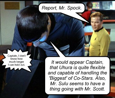 Who can't hold out, Spock? Uhura or Scotty??