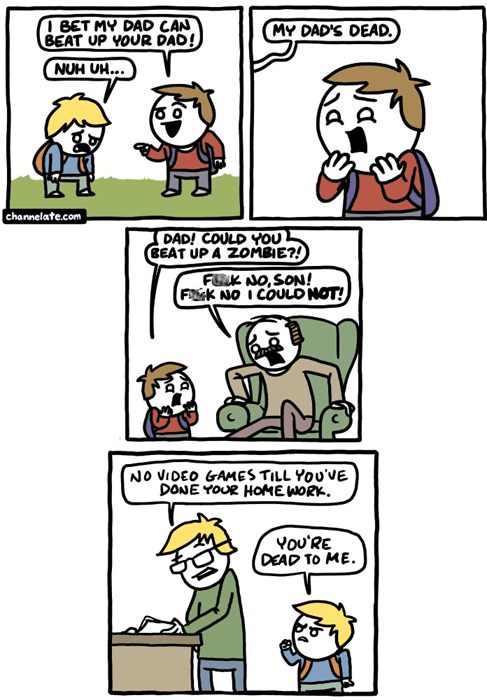 dads,fights,zombie,web comics