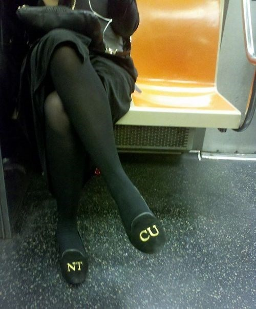 shoes,poorly dressed,Subway