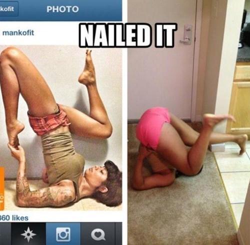 expectations vs reality,so close,Nailed It,yoga