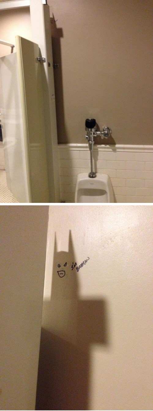 Bathroom Batman