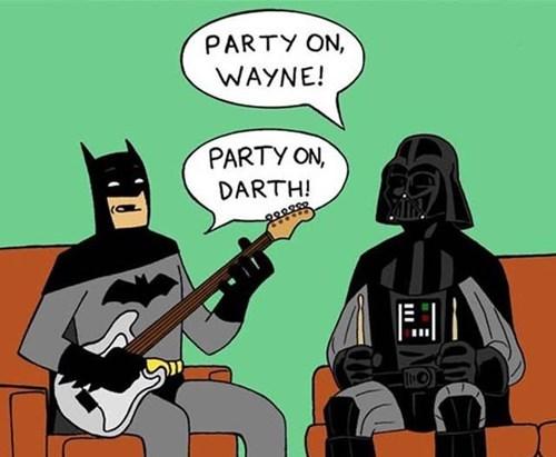 darth vader,batman,bruce wayne,puns,star wars