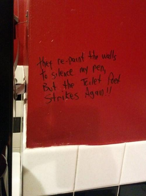 bathroom,graffiti,monday thru friday,poetry,work,g rated