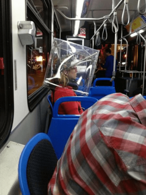 bus,cube,poorly dressed,personal space