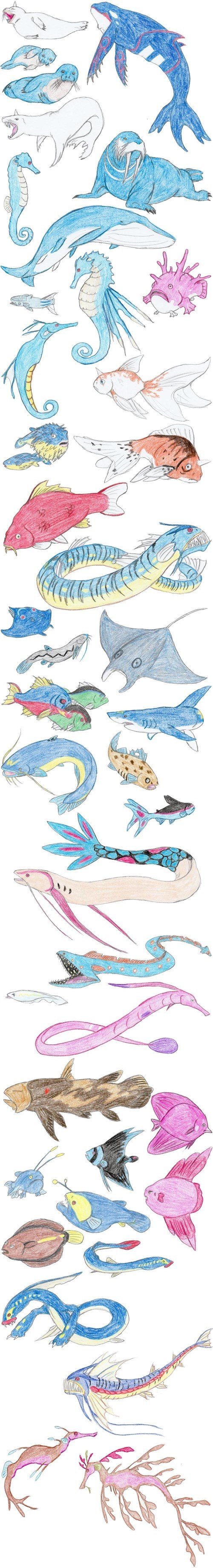 Realistic Sea Pokémon