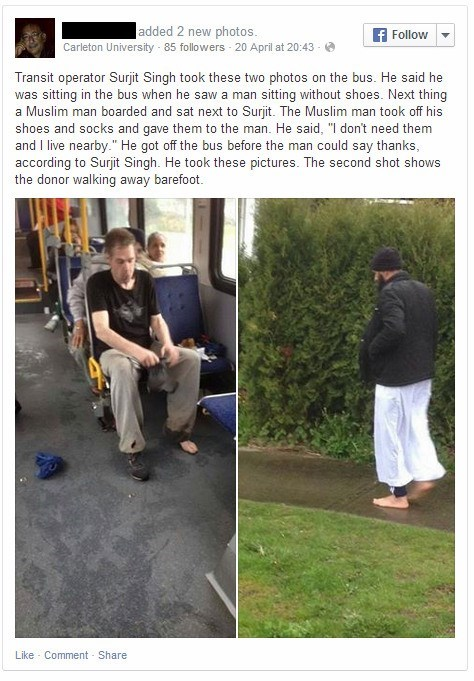 What This Man Did for a Bus Rider in Need Will Make Your Day