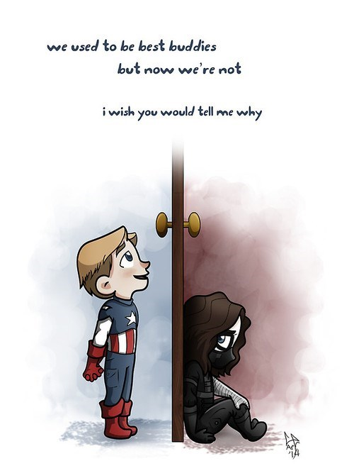 captain america,frozen,FanArt,winter soldier