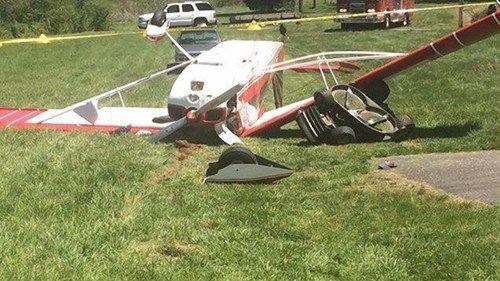 Man Mowing Grass Gets Mowed Down by Airplane