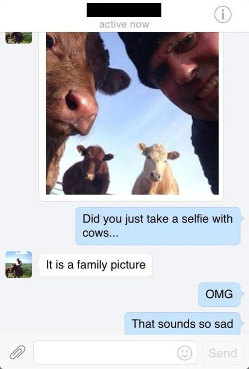 selfie,farm,cows,failbook,g  rated