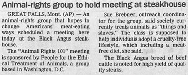 You Could Say it Was an Ironic Stakeholders Steakhouse Meeting