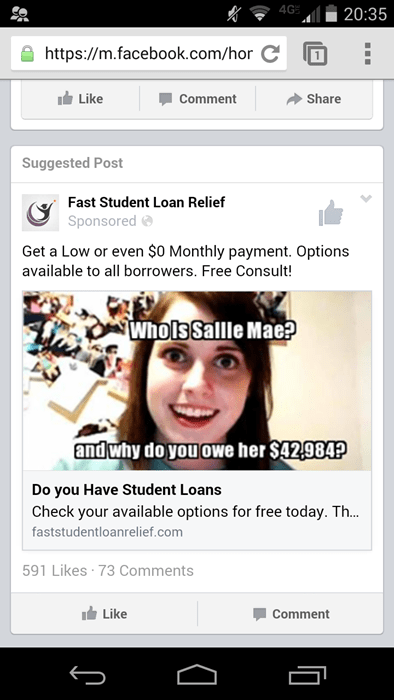advertisement,student loans,overly attached girlfriend