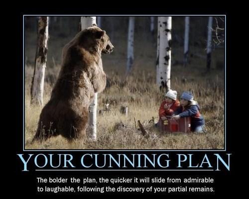 bears,black adder,funny,plans,cunning