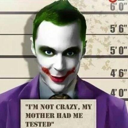 big bang theory,joker,funny,TV