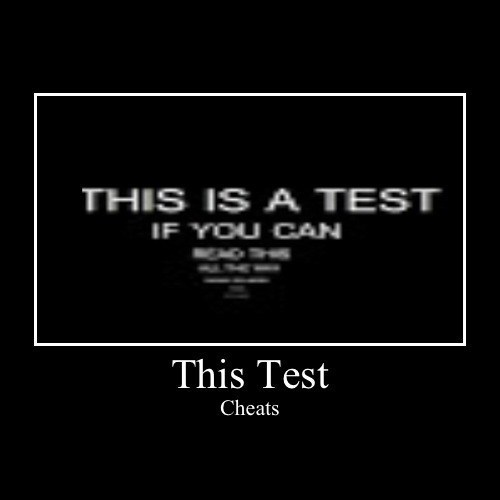 cheating,test