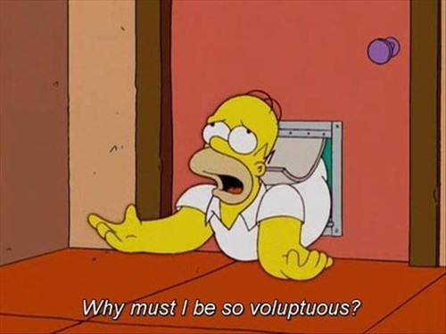 fat,stuck,the simpsons,funny