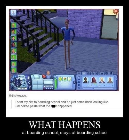 funny,Sims,wtf,boarding school