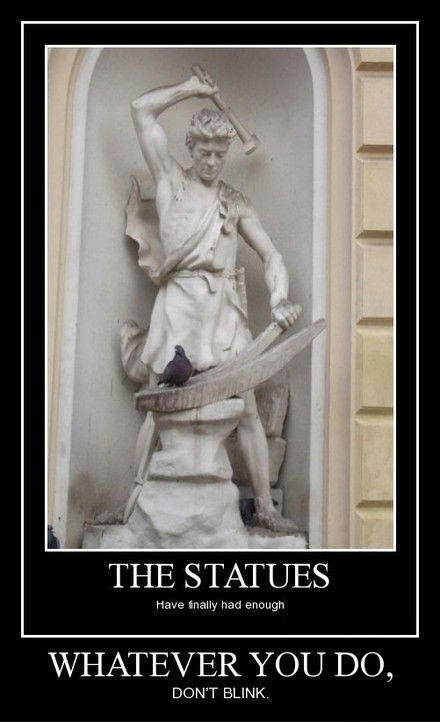 Get That Pigeon Off My Statue!