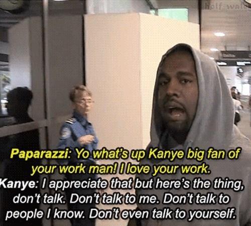 annoyed,kanye west,funny,paparazzi
